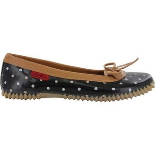Chooka Women's Classic Dot Duck Skimmer Black