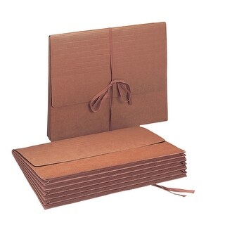 Smead Tyvek Gusset Durable Expanding Wallet with Cloth Tie Closure, Letter, 11-3/4 X 9-1/2 in, 5-1/4 in Expansion, Redrope