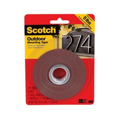 "Scotch 411-MEDIUM Outdoor Mounting Tape, 1"" x 175"""
