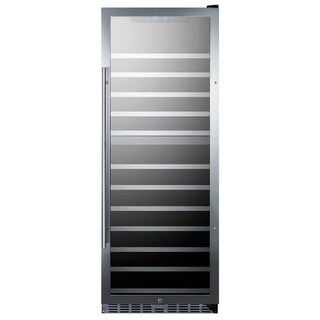 Summit SWC1380 24 Inch Wide 122 Bottle Capacity Free Standing Wine Cooler with L