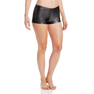 Capezio Womens Snake Foil Boy Cut Shorts