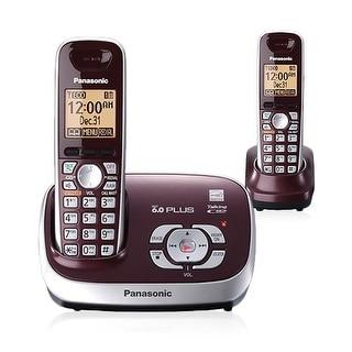 Refurbished Panasonic KX-TG6572R Dect 6.0  Expandable Digital Cordless Phone w/ 2 Handsets
