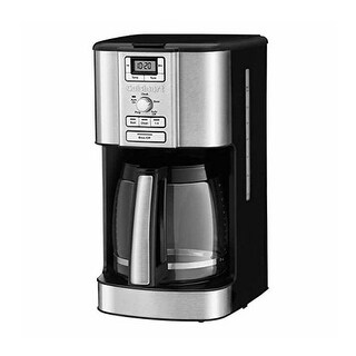 Cuisinart CBC-6500PC Brew Central 14-Cup Programmable Coffeemaker, Stainless & Black, Certified Refurbished