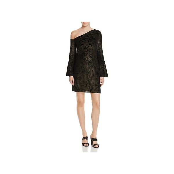 Shop Laundry by Shelli Segal Womens Cocktail Dress One Shoulder ... 2497c23af1