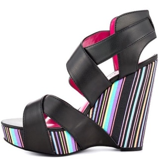 Unlisted Kenneth Cole Bend The Rules Open Toe Synthetic Wedge Sandal