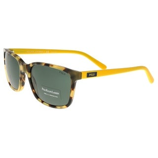 Ralph Lauren PH4103 554871 Havana/Yellow Rectangle Sunglasses