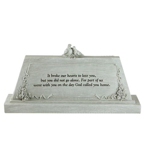 "9"" Forever with the Angels Religious Script Decorative Bereavement Table Top Plaque"