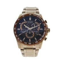 Citizen At4106-52x Eco-Drive Perpetual Chrono A-T Rose Gold-Tone Stainless Steel Watch Watch For Men