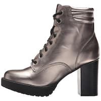 Madden Girl Womens Joltz Almond Toe Ankle Combat Boots