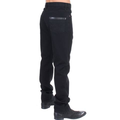 Costume National Black straight fit stretch denim Men's jeans