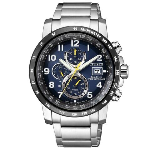 Citizen Men's AT8124-91L 'Eco-Drive' Chronograph Stainless Steel Watch - Blue