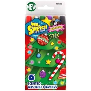 Mr.Sketch Scented Washable Marker Set 6/Pkg-Stix Holiday