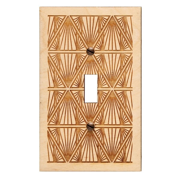 Engraved Wooden Light Switch Plate Cover Toggle Church