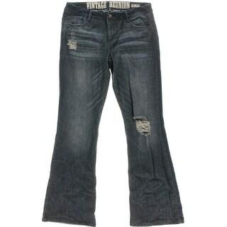 Rewash Womens Juniors Urban Reunion Denim Flare Jeans