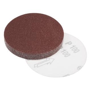 5-Inch Sanding Disc 100 Grits Aluminum Oxide Flocking Back Sandpapers 10 Pcs - 100 Grits