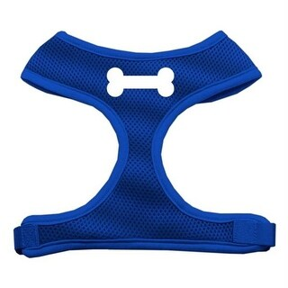 Mirage Pet Products Bone Design Soft Mesh Harnesses Blue Medium