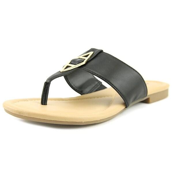 Alfani Therrly Women Open Toe Synthetic Black Flip Flop Sandal