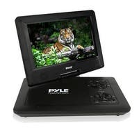 7'' Portable CD/DVD Player, Built-in Rechargeable Battery, USB/SD Card Memory Readers (Black)