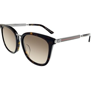 Gucci Gradient GG0079SK-003-5 Silver Butterfly Sunglasses