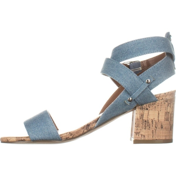Indigo Rd. Womens Elea3 Fabric Open Toe Casual Ankle Strap Sandals