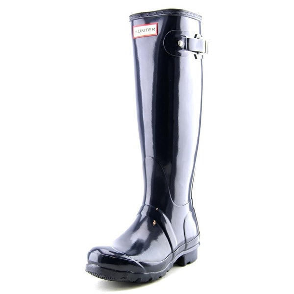 Hunter Original Tall Glossy Round Toe Synthetic Rain Boot