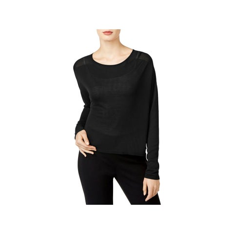 Eileen Fisher Womens Pullover Sweater Tencel Cropped