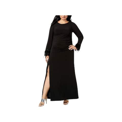 Calvin Klein Womens Plus Evening Dress Formal Jersey