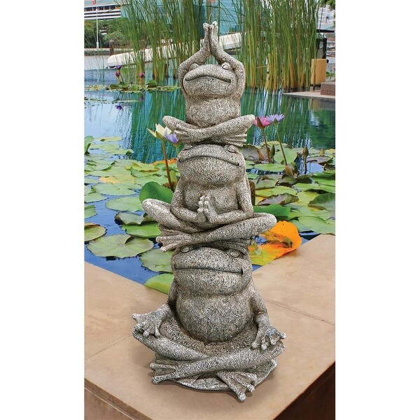 Design Toscano Tower of Frog Power Garden Statue