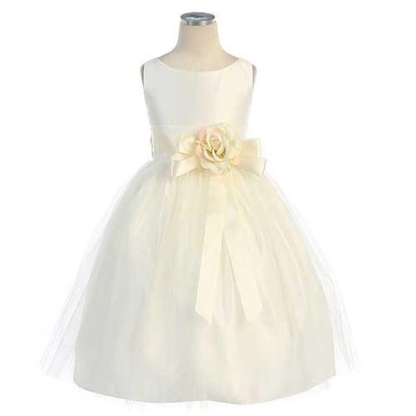 Sweet Kids Toddler Girls Size 2T Ivory Tulle Easter Flower Girl Dress