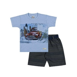 Toddler Boy Outfit Set Graphic Tee and Shorts Pulla Bulla Sizes 1-3 Years