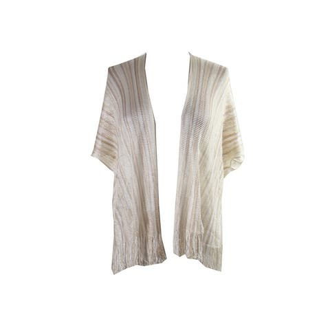 Collection Xiix Camel Striped Kimono OS