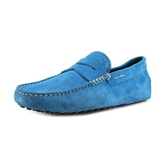 Tod's MOCASSINO GOMMINI NUOVO Youth Moc Toe Suede Blue Loafer