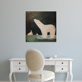 Easy Art Prints Ryan Fowler's 'Constellations Polar Bear' Premium Canvas Art