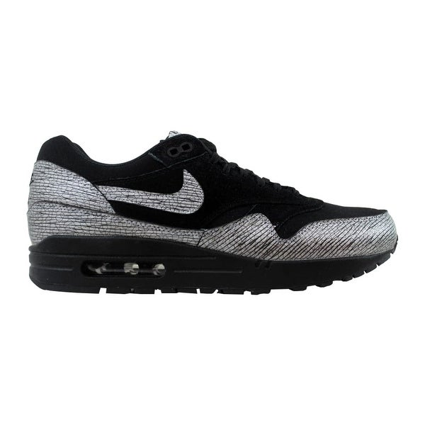 2ea99a59db Shop Nike Women's Air Max 1 Premium Black/Metallic Hematite-Black ...