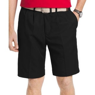 Izod Mens The Driver Dress Shorts Microfiber Double Pleat