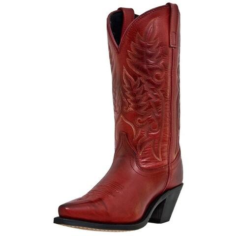 "Laredo Fashion Boots Womens Madison 11"" Snip Toe Burnished Red"
