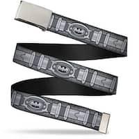 Blank Chrome  Buckle Batman Utility Belt Grays Webbing Web Belt
