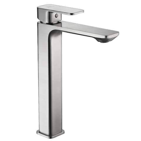 Vibra Single Hole Single-Handle Bathroom Faucet in Brushed Nickel