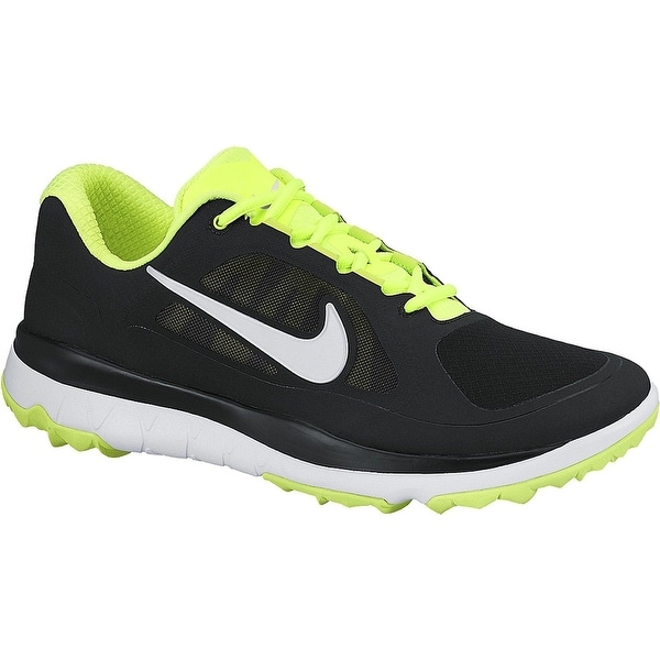 5c4f12feda1d Shop Nike Men s FI Impact Black Volt White Golf Shoes 611510-007 - Free  Shipping Today - Overstock - 19748354