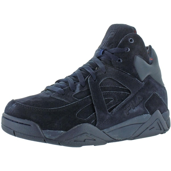 Shop Fila Mens The Cage Basketball Shoes Suede High Top