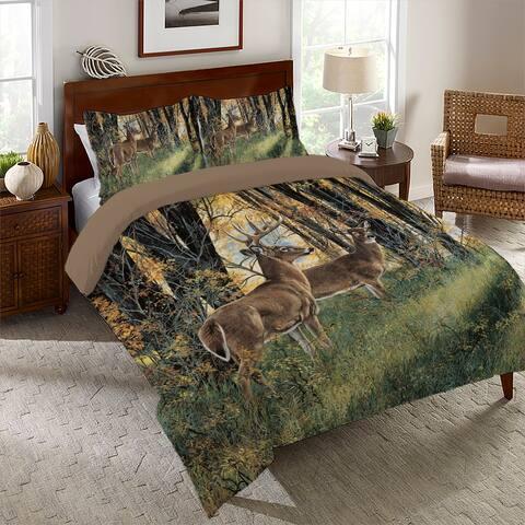 Deer In Autumn Light King Comforter Set