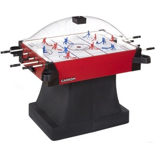 Carrom Red Signature Stick Hockey Table with Pedestal Base and dome Scoring Unit / 425.01 - Black