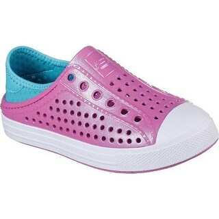 Skechers Girls' Guzman Steps Slip-On Sneaker Hot Pink/Turquoise