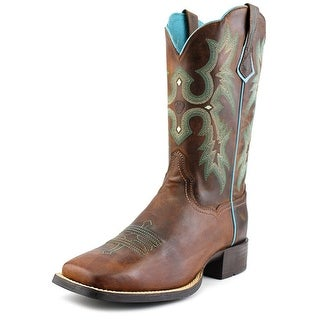 Ariat Tombstone Women Square Toe Leather Brown Western Boot