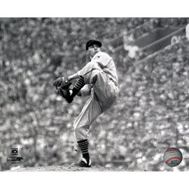 Bob Feller Black and White Pitching 8x10 Photo uns