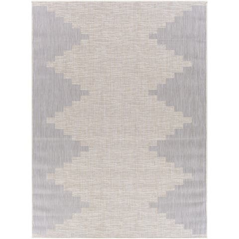 Jazsmin Indoor/ Outdoor Diamond Stripe Area Rug
