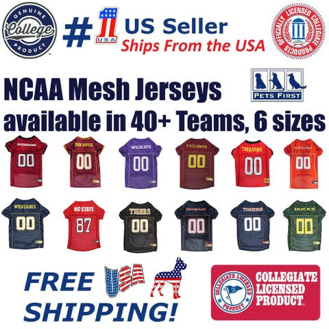 Pets First NCAA Mesh Jersey for Dogs and Cats - Licensed.