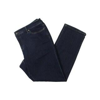 Lauren Ralph Lauren Womens Plus Straight Leg Jeans Slimming Fit Rinse Wash