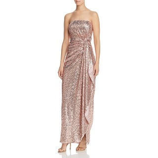 Link to Aidan by Aidan Mattox Womens Evening Dress Sequin Faux-Wrap - Orchid Similar Items in Dresses