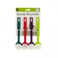 Multi-Purpose Round Head Scrub Brushes - White, Green,